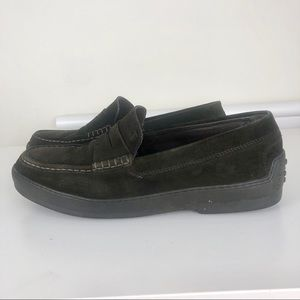 Tods loafers suede, brawn size 9,5